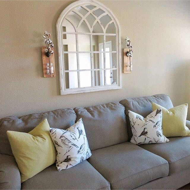 Kirkland S On Instagram Decorative Mirrors Are The Perfect Way To Fill A Blank Wall Nah De Yah Has Use Above Couch Decor Decor Home Living Room Couch Decor