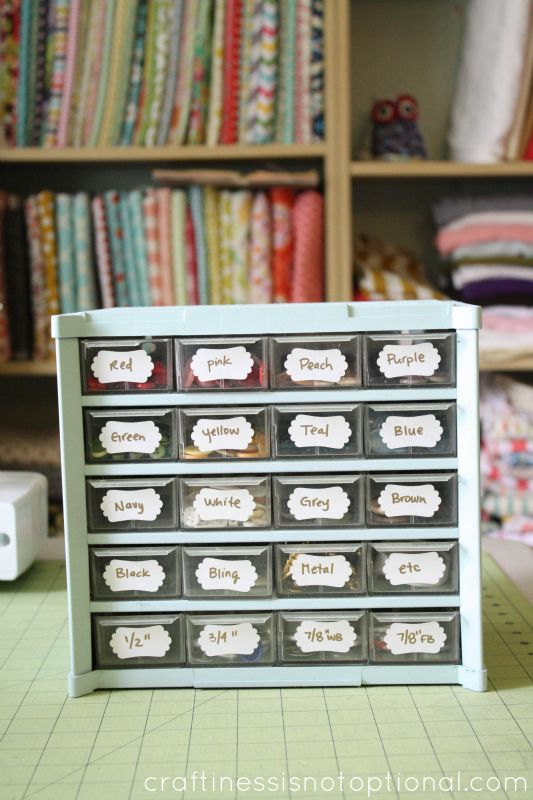 Button Ribbon Etc Storage Craftiness Is Not Optional Blog