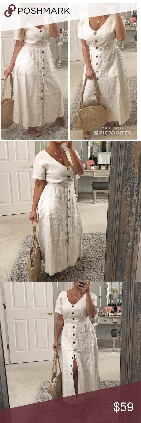 Rachel Zoe Linen Maxi Dress S Linen Maxi Dress Rachel Zoe Dresses Clothes Design [ 1740 x 580 Pixel ]