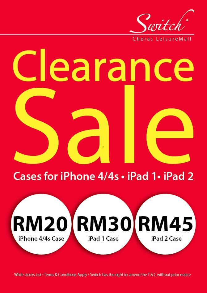 Stock clearance at Switch @ Leisure Mall, Cheras | Promotion