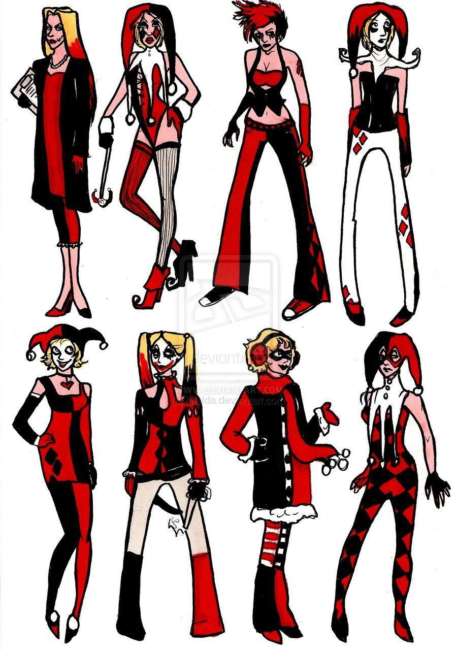 Character Costume Design Tutorial : Harley quinn designs by ithelda viantart my style