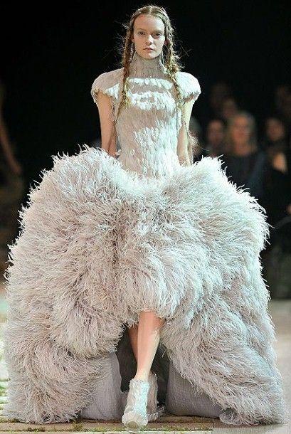 e909578fee3d Alexander McQueen Alexander Mcqueen Dresses, Paris Fashion, Avangard  Fashion, Couture Fashion, High