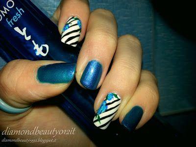 Lady stripe nails -2015