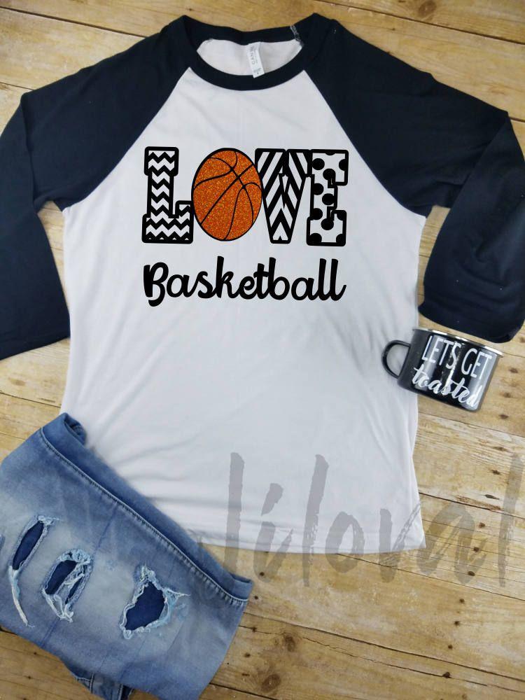 Basketball Shirt, Unisex Raglan, Love Basketball, Blingy