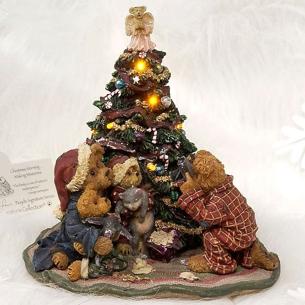 Boyds Bears Christmas Morningmaking Memories Boyds Bears Christmas Boyds Bears Figurines Boyds Bears