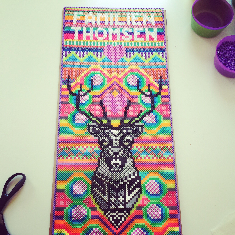 Familien Thomsen - Oh Deer hama perler art by Louise Thomsen