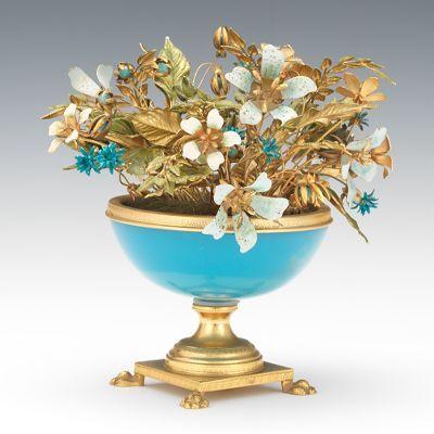 "A Gorham ""Fleurs des Siecle"" Miniature Jardiniere with Flowers by Jane Hutcheson"