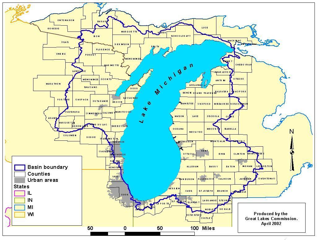 lake michigan images Basin Locator Map Scenic beauty
