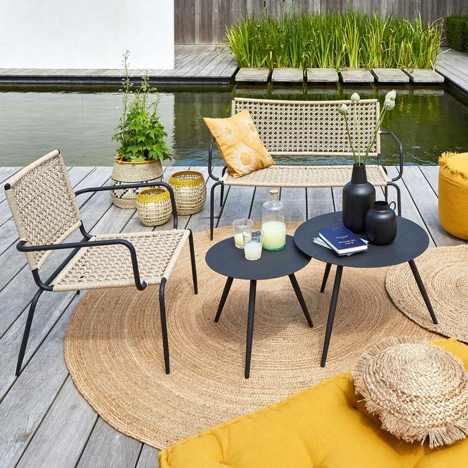 Salon De Jardin Banquette Deco En 2020 Banquette Jardin Fauteuil Exterieur Meuble Jardin
