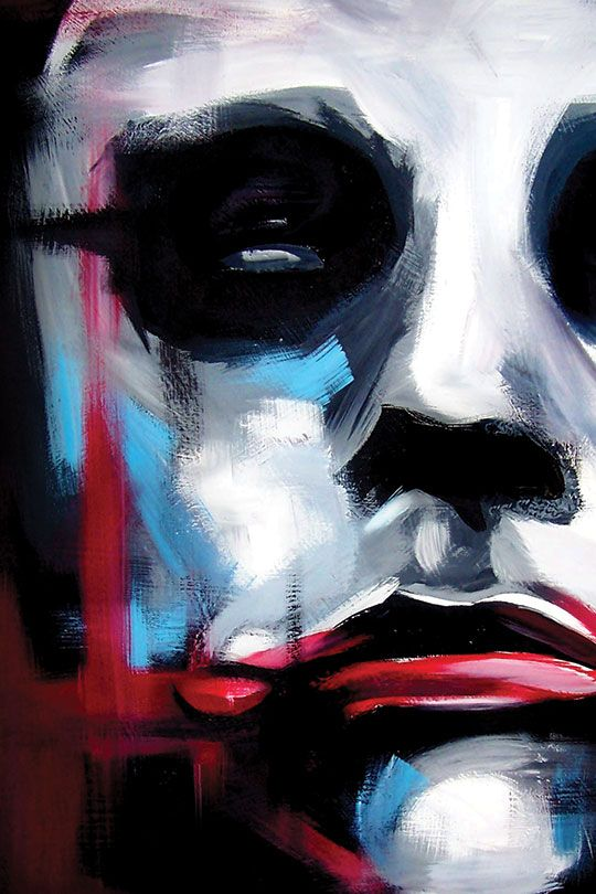 Dark Knight Joker close up check out all my work at http://www ...