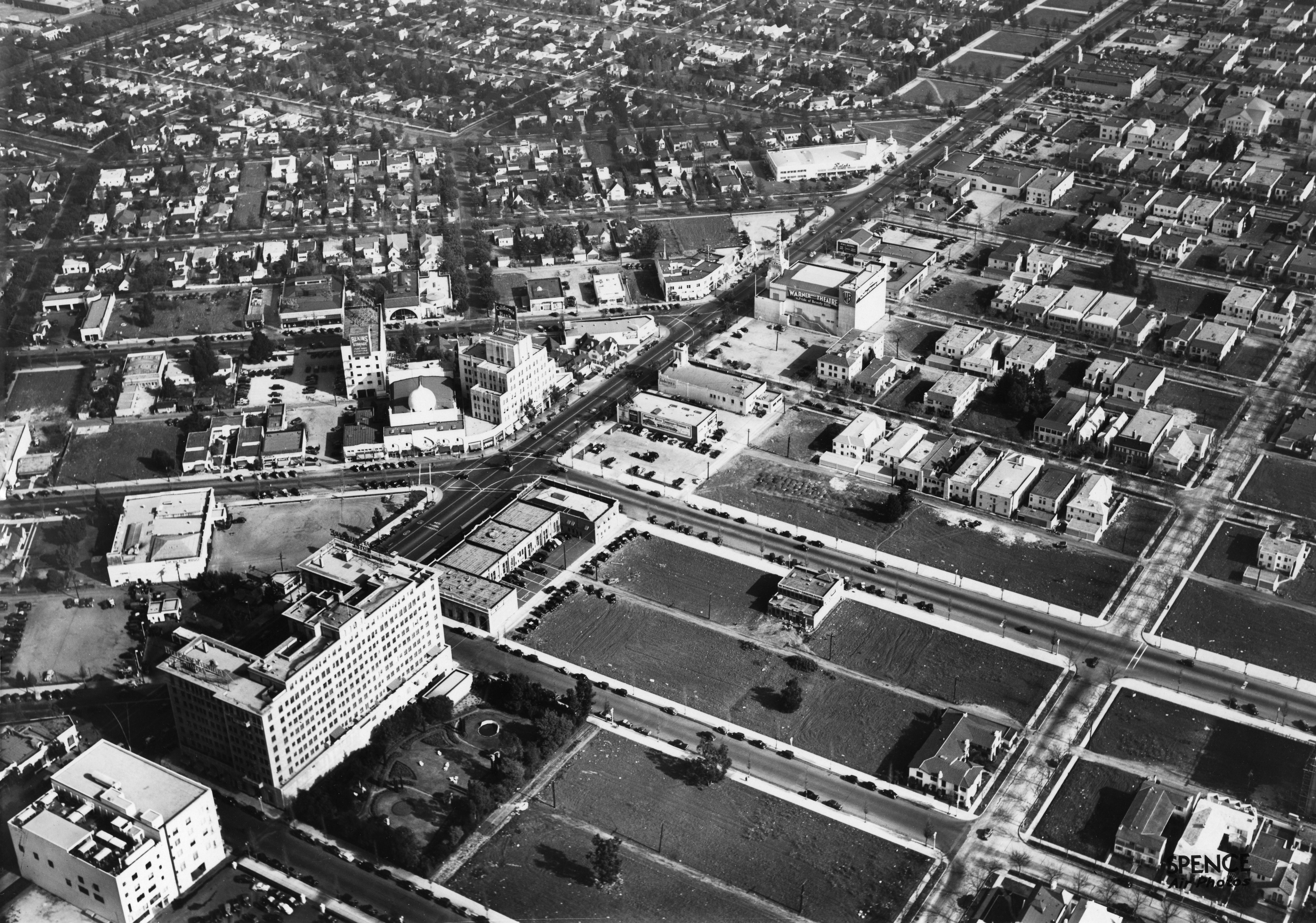 Ariel Shot Of Hotel In 1937 Pre Beverly Wing Photo Compliments Of Marc Wanamaker Los Angeles History Los Angeles Hollywood California History