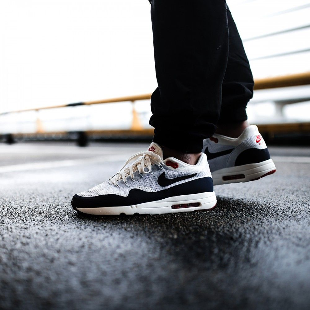 Nike Air Max 1 Ultra 2.0 Flyknit Wolf Grey / Obsidian Credit : The Good Will Out #Nike #Inside #Sneakers