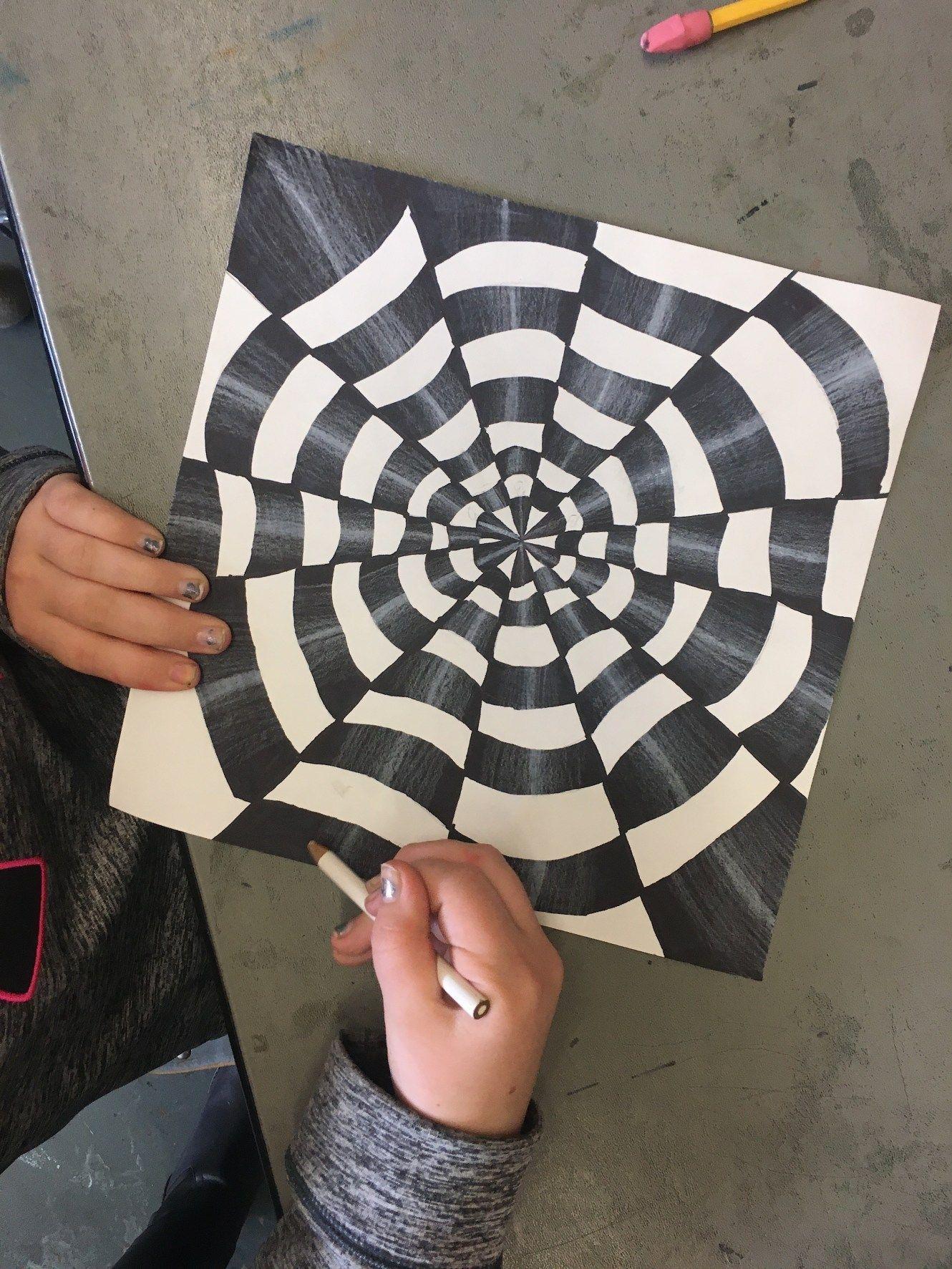 Op Art By 5th Grade