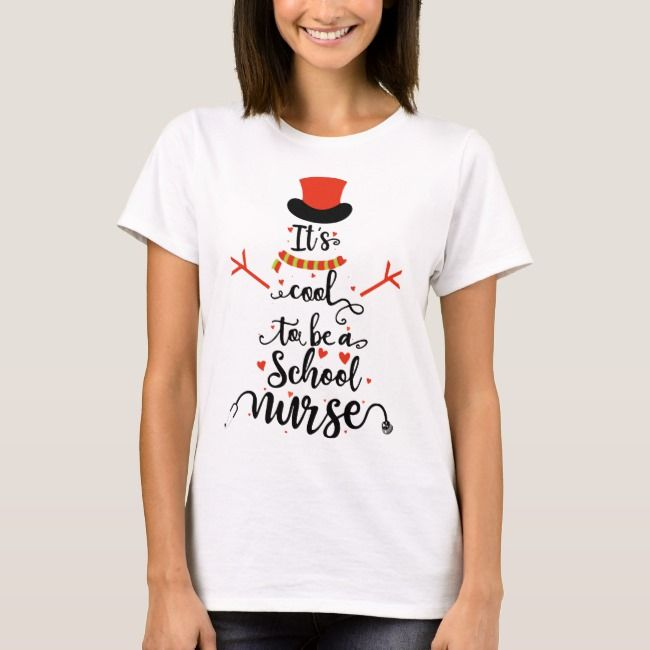 It Is Cool To Be A School Nurse Medical Pharmacy H T-Shirt