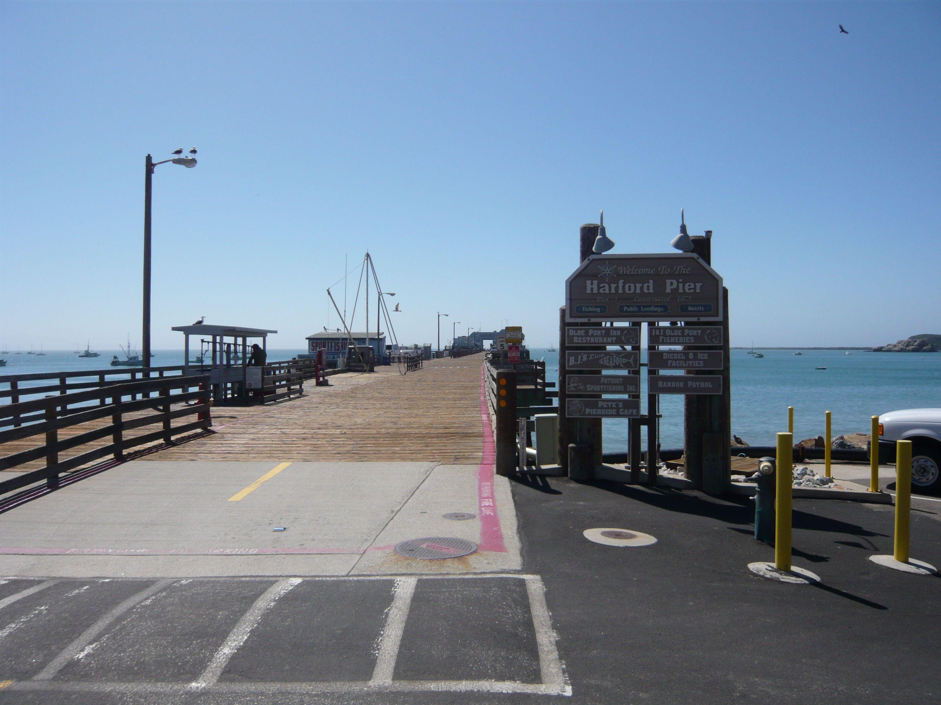Harford Pier In Port San Luis Harbor Ca San Pismo Beach Port