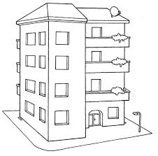 Resultado De Imagen Para Comisaria Para Colorear Dibujos De Edificios Dibujo De Casa Tipos De Casas
