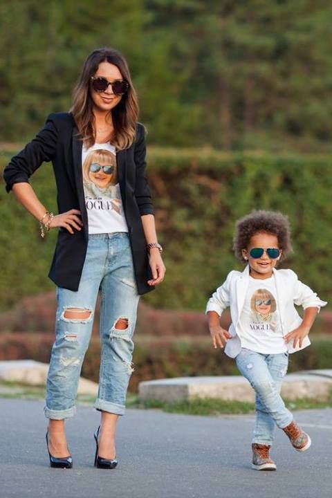 8684f2903 Mom and daughter fashion pose. 19 Adorable Mothers and Daughters Matching  Outfit Ideas-I would probably never do this, because with Audra it's more  about ...