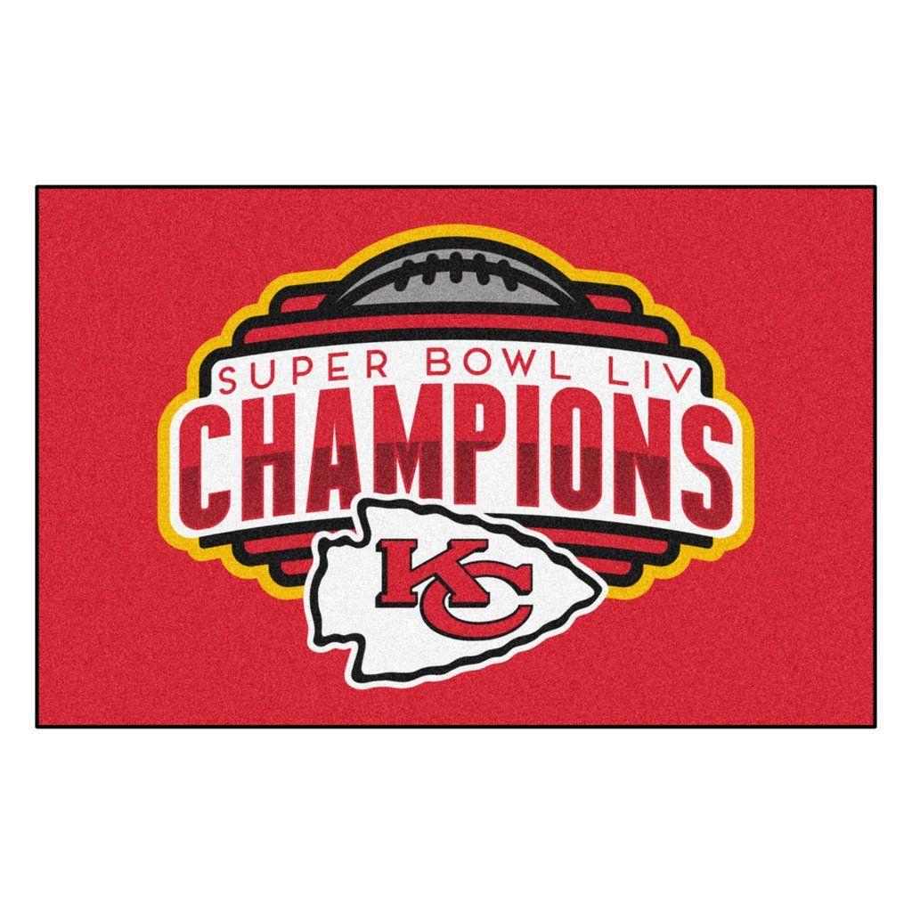 Nfl Kansas City Chiefs Super Bowl Liv Starter Mat In 2020 Chiefs Super Bowl Nfl Kansas City Chiefs Super Bowl