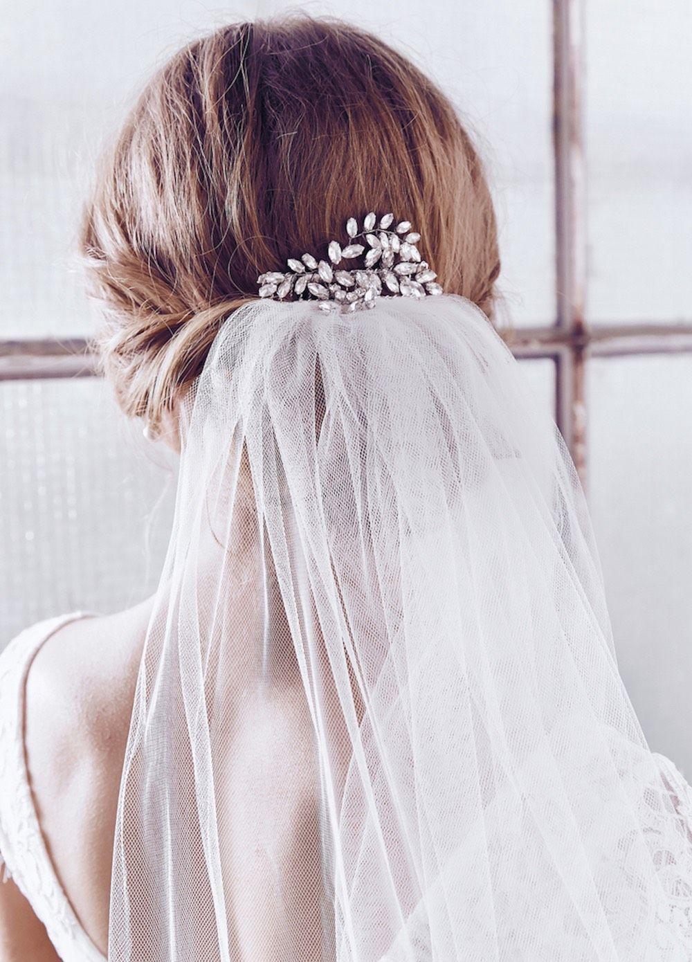 paris comb single tier veil   anna campbell ceremony accessories