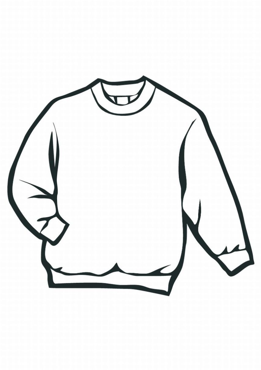 Sweater Art Kit Coloring Pages Clothes