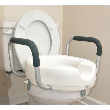 Briggs Healthcare Raised Locking Toilet Seat With Arms Bemis Toilet Seat Toilet Modern Bathroom Decor