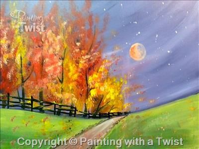 Fall Wonderland Flower Mound Tx Painting Class Painting With A