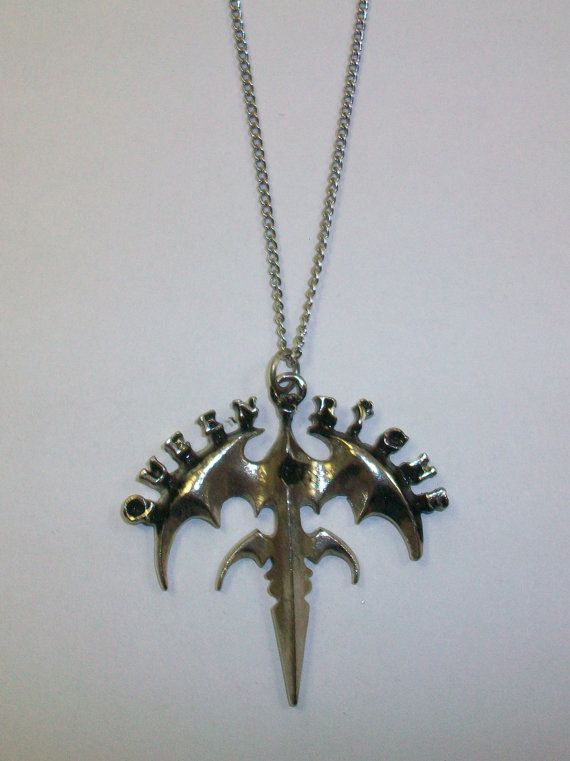 Queensryche Necklace Queensr\u00ffche band Pendant Queensryche Tri-Ryche Logo Heavy Metal Band
