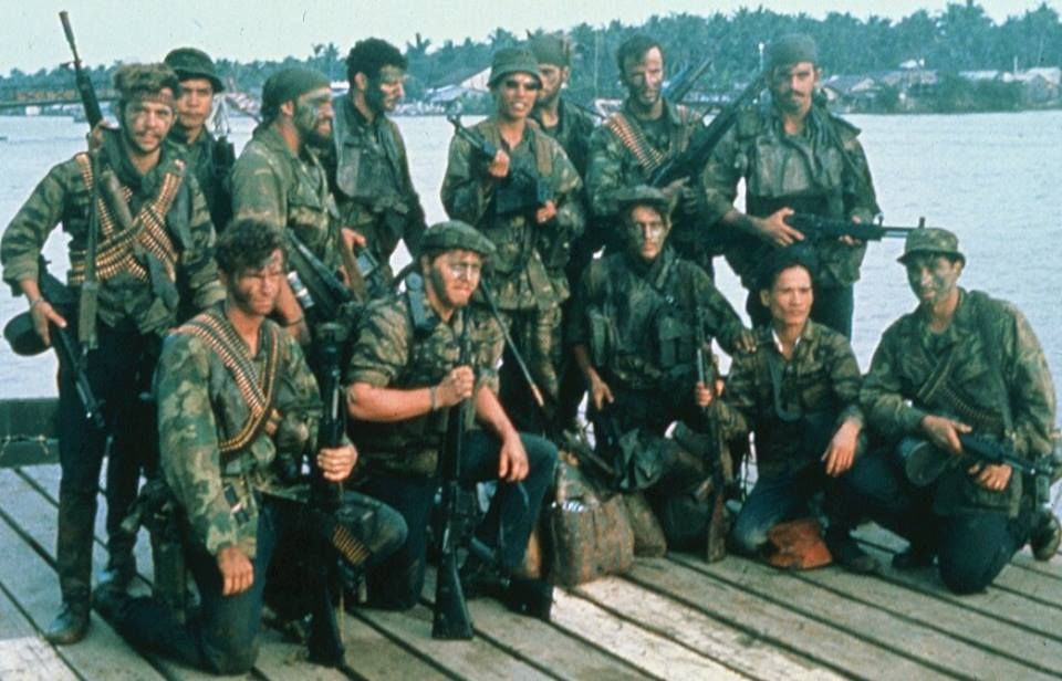 SEAL Team 1, X-Ray Platoon with support personnel in Vietnam