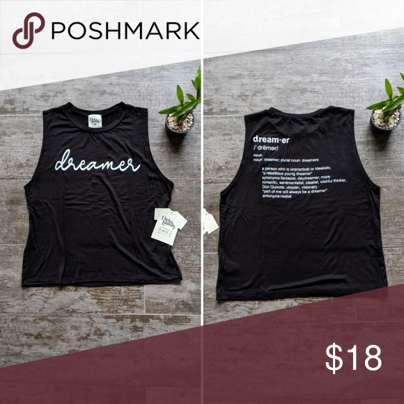 Dirtee Laundry Dreamer Graphic Tank Dreamer With Definition On The