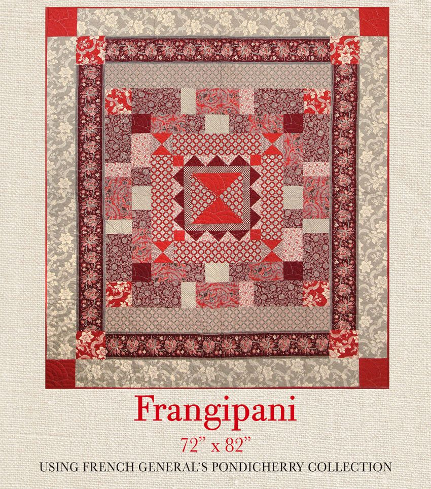 Pondicherry - Frangipani Quilt Pattern | French General Quilts ...