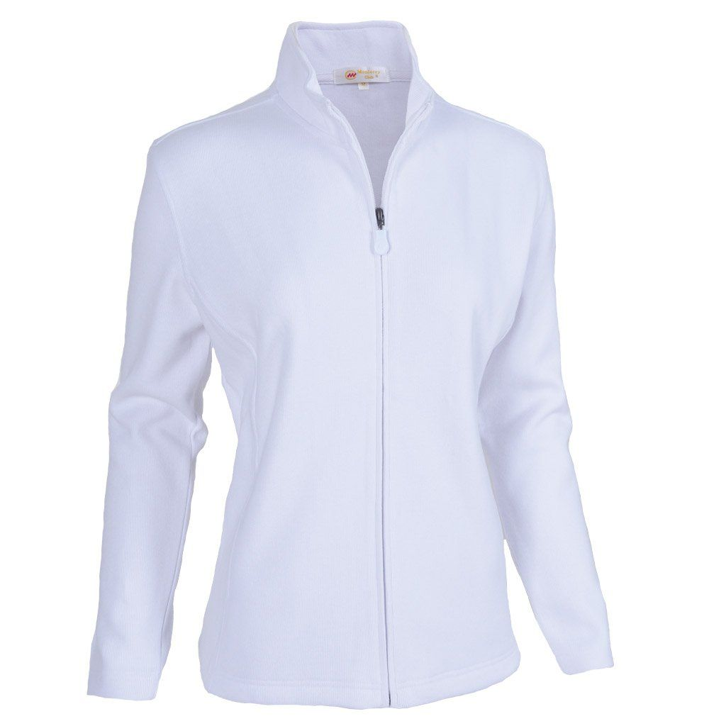 Monterey club ladies classic long sleeve zipup french rib jacket