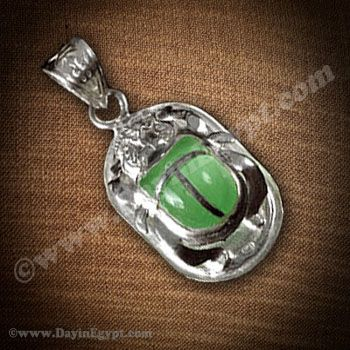 Egyptian silver scarab pendant with a green stone superior gleaming egyptian silver scarab pendant with a green stone superior gleaming solid silver scarab pendant represents meticulous cravings of scarab in gentle and aloadofball Gallery