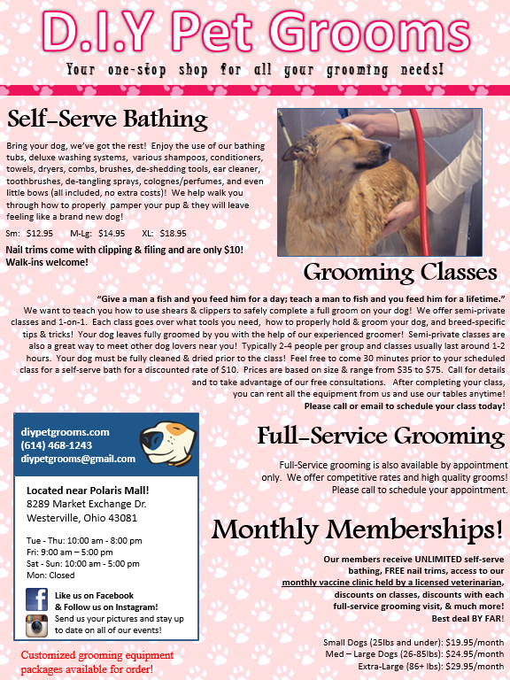 Self Serve Dog Wash Grooming Salon In Westerville Oh Dog Lovers
