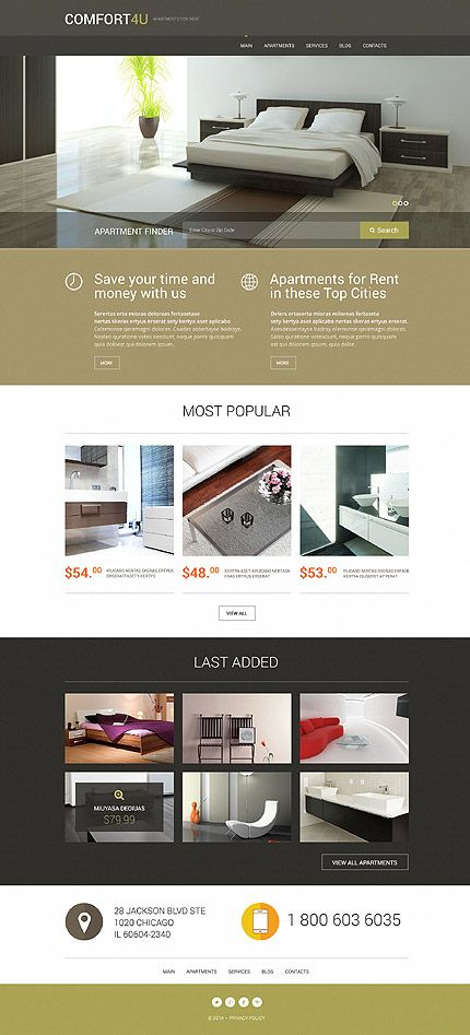 Comfort 4U #Wordpress #template #themes #business #responsive - house for rent template