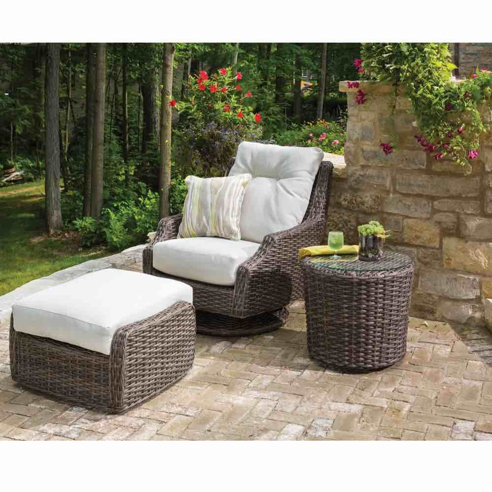 Largo Outdoor Wicker High Back Swivel Lounge Chair In 2020 Wicker Lounge Chair Outdoor Lounge Set Patio Lounge Chairs