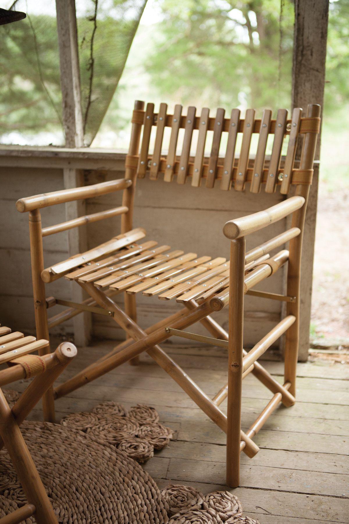 Bamboo Director S Chair Bambumobler Mobler Och Inredning