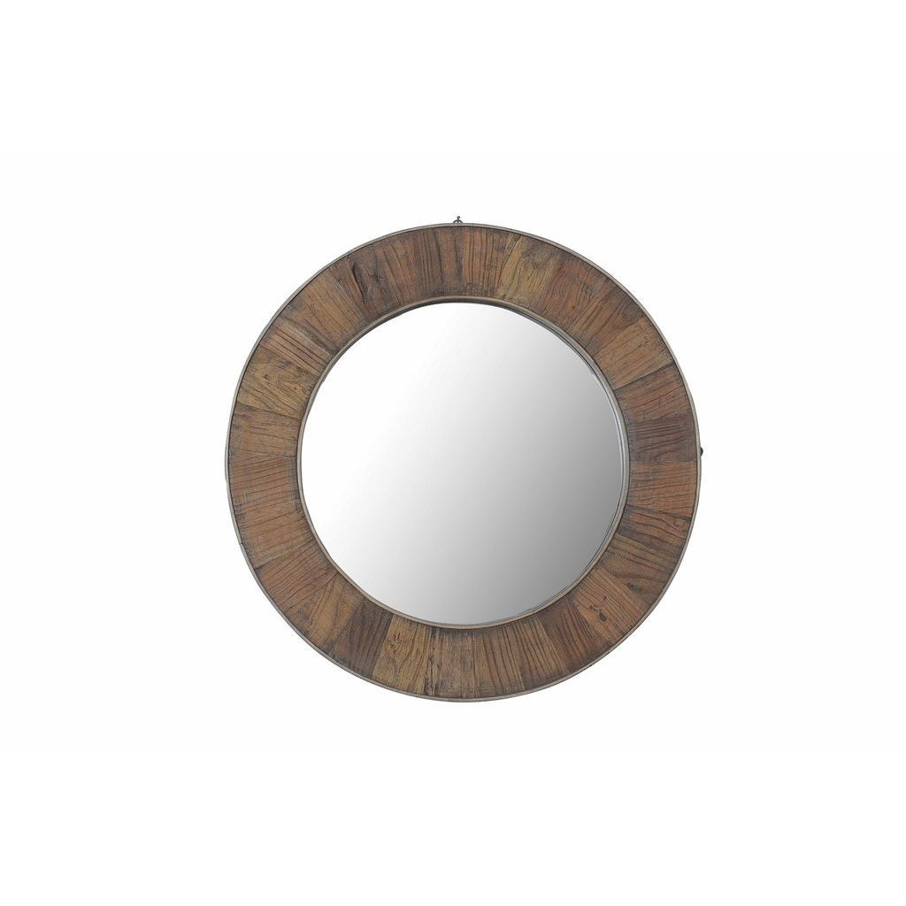 Sunjoy Recycled Fir Wood Wide Border 27 Inch Round Mirror Ping The Best Deals On Mirrors