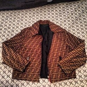 fe5dfa00a2c Fendi Womens Zucca print jacket. 100% Authentic see  theluxlife2013.bigcartel.com to purchase!!