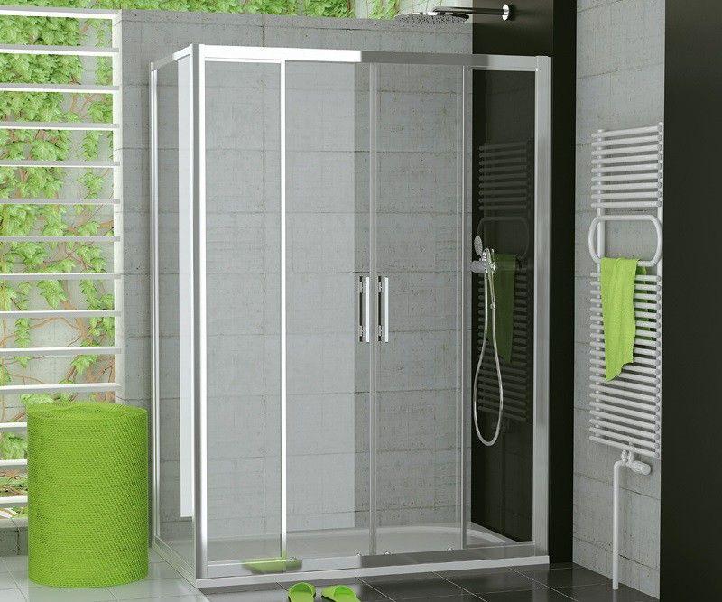Dusche Schiebetür 4teilig Seitenwand ab 120 x 70 x 190 cm