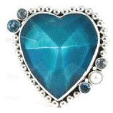 The Awareness Heart for Sexual Assault and for Jane Doe No More.  1920's vintage glass and sterling silver, blue topaz and pearl.  100% of the proceeds from sales go to their good works and mission of changing the way society views victims of sexual assault.   There is even a teen size and baby size pin - Love them!