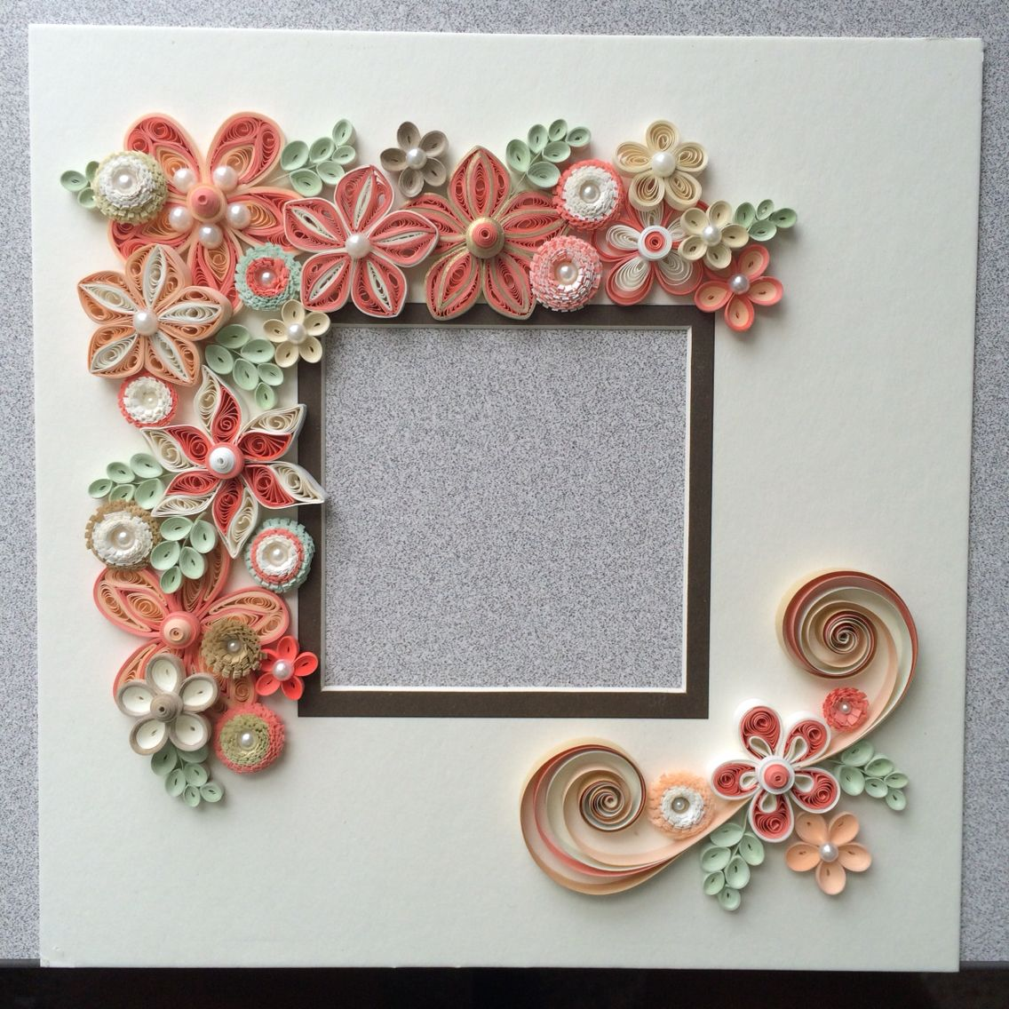 Quilled flowers for shadow box frame Quilled