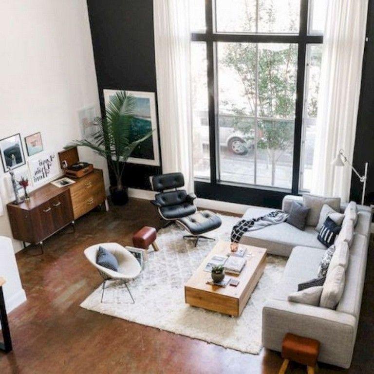 30 Comfortable Simple Living Room Design Ideas Mid Century Living Room Modern Apartment Decor Mid Century Modern Living Room