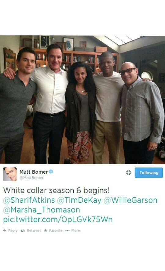 Tweet pic from Matt Bomer about White Collar