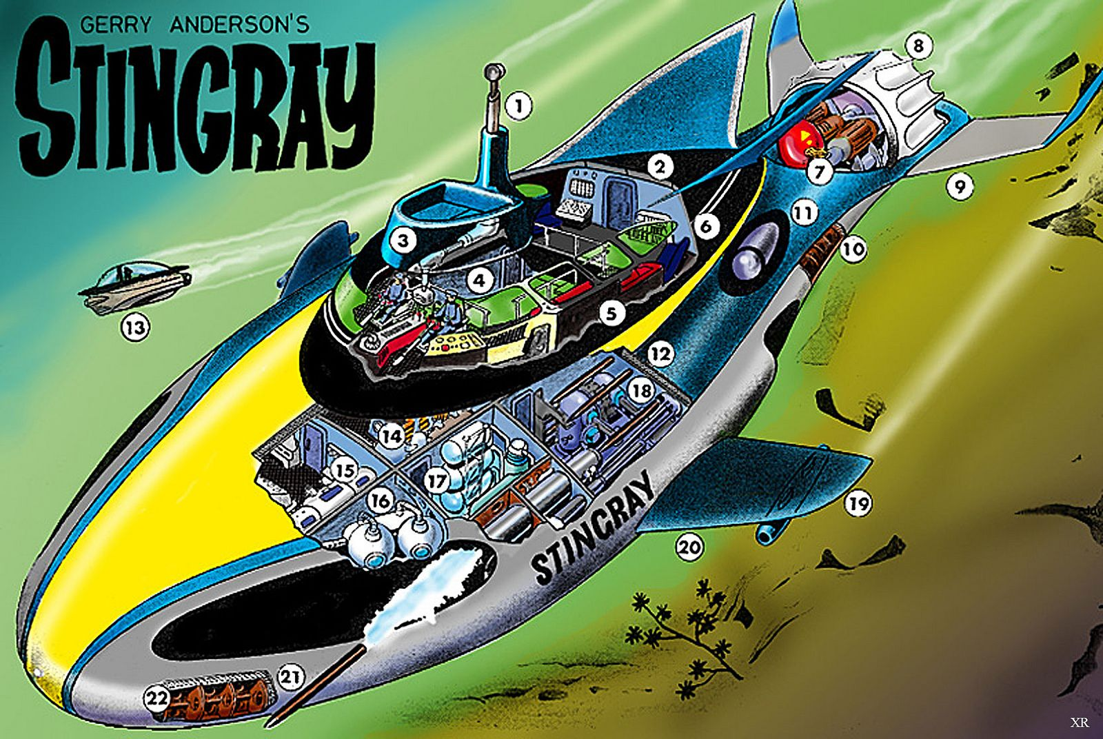 1964 World Aquanaut Security Patrol Gerry Anderson Stingray Old Tv Shows