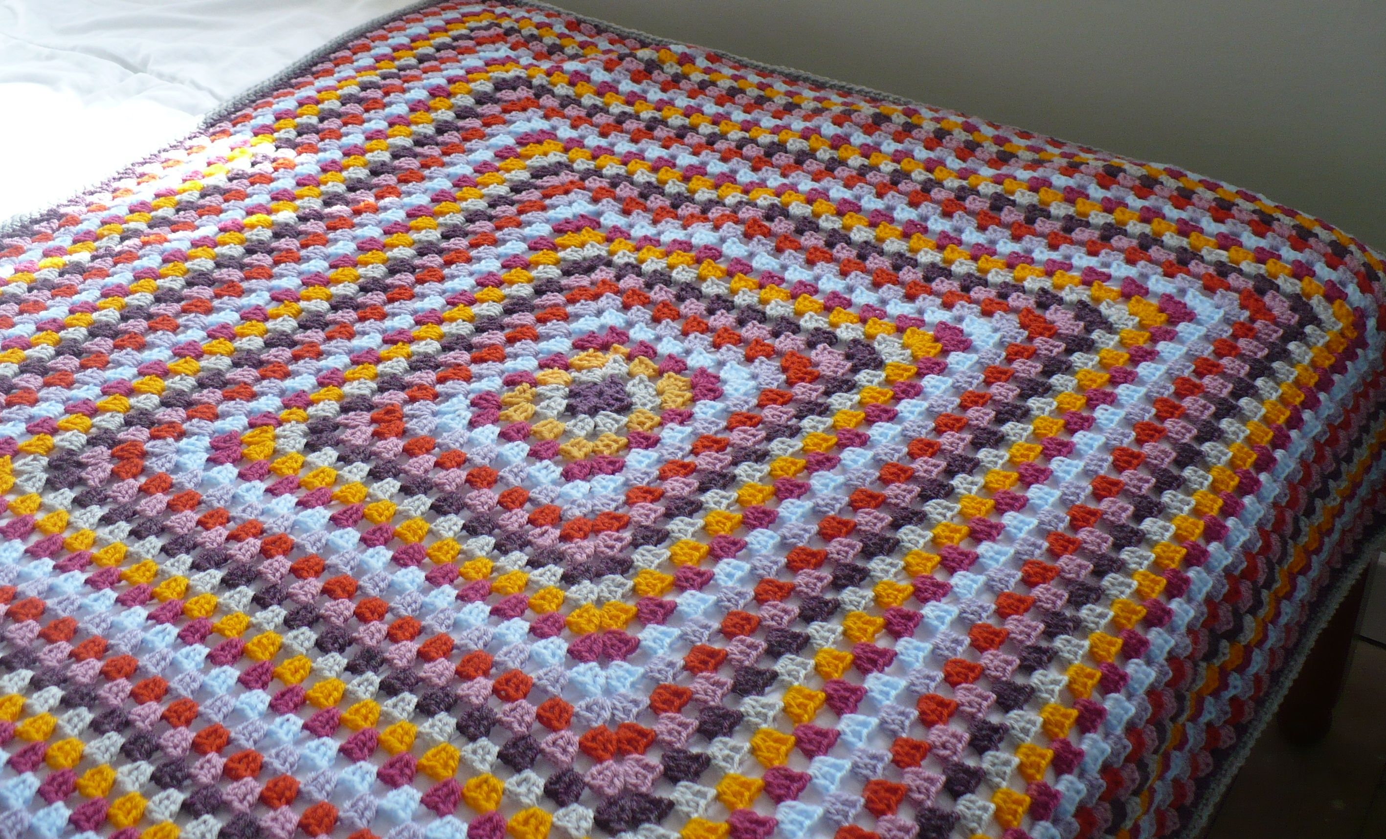 Continuous Granny Square Afghan Pattern Magnificent Inspiration Design
