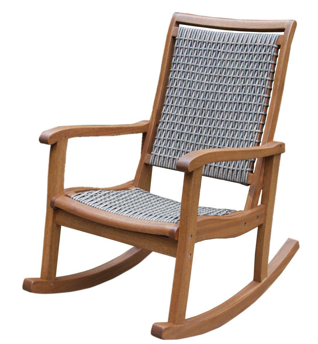 Davis Eucalyptus Rocking Chair Wicker Rocking Chair
