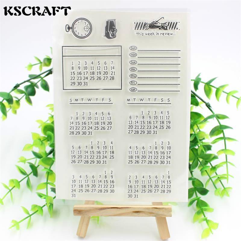 Visit To Buy Kscraft 1 Sheet Diy Calendar Transparent Clear Rubber Stamp Seal Paper Craft Scrapbooking Decoration Projects Diy Calendar Paper Crafts Scrapbook