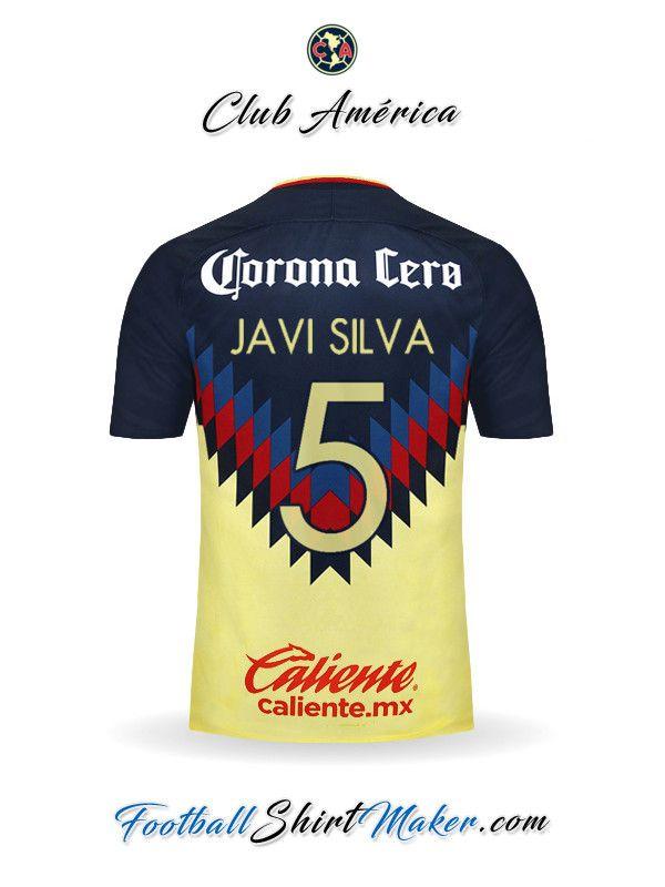 a0757999aca Camiseta Club America 2017 2018 Javi silva 5