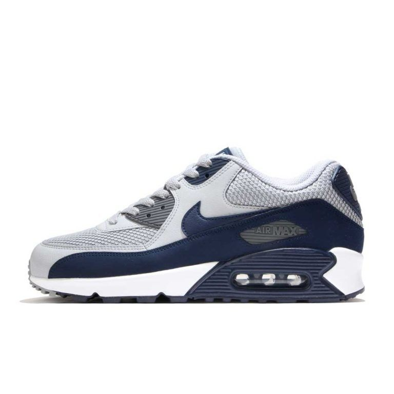 ilegal Perdido alguna cosa  NIKE AIR MAX 90 ESSENTIAL WOLF GREY NAVY NKK371WG | Nike air max, Nike air  max 90, Air max sneakers