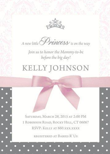 Custom pink and gray princess baby shower invite i create uprint custom pink and gray princess baby shower invite i create uprint filmwisefo Gallery
